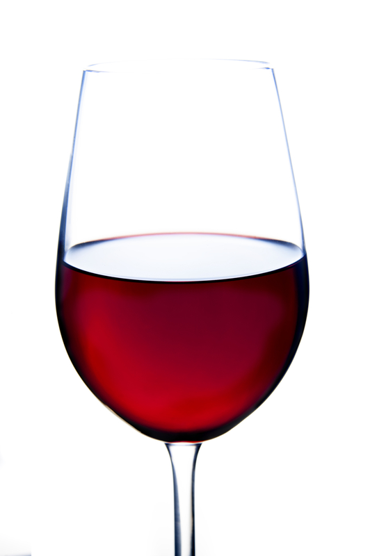 glass of alcohol red wine